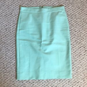 Jcrew No. 2 double serge pencil skirt in mint blue